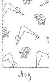 Creative Yogis Coloring Book Down Facing Dog Pose
