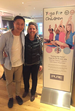 Mikey Ki of Pure Yoga and Karen of Creative Yogis
